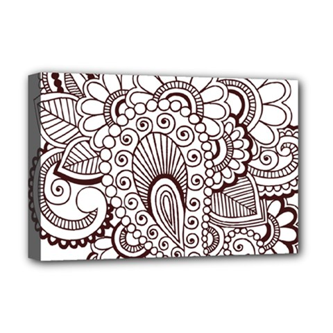 Henna Line Art Clipart Deluxe Canvas 18  x 12