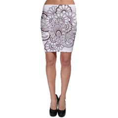 Henna Line Art Clipart Bodycon Skirt