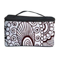 Henna Line Art Clipart Cosmetic Storage Case