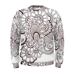 Henna Line Art Clipart Men s Sweatshirt