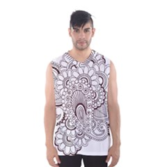 Henna Line Art Clipart Men s Basketball Tank Top