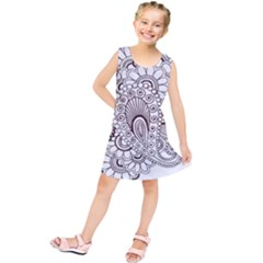 Henna Line Art Clipart Kids  Tunic Dress