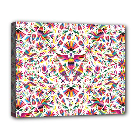 Otomi Vector Patterns On Behance Deluxe Canvas 20  x 16