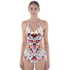 Otomi Vector Patterns On Behance Cut-Out One Piece Swimsuit