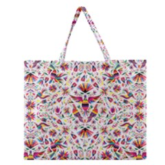Otomi Vector Patterns On Behance Zipper Large Tote Bag