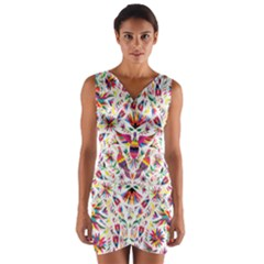 Otomi Vector Patterns On Behance Wrap Front Bodycon Dress