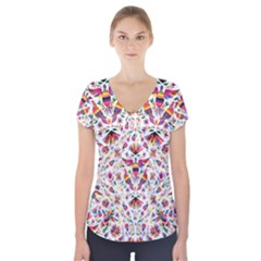 Otomi Vector Patterns On Behance Short Sleeve Front Detail Top