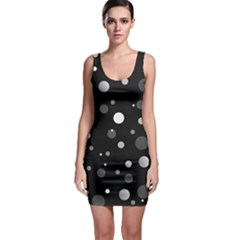 Decorative dots pattern Sleeveless Bodycon Dress