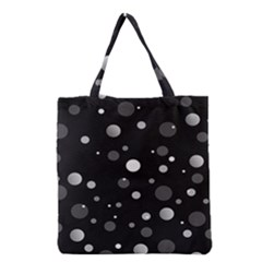 Decorative dots pattern Grocery Tote Bag