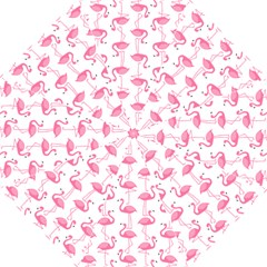 Pink Flamingos Pattern Hook Handle Umbrellas (Medium)