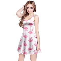 Pink Flamingos Pattern Reversible Sleeveless Dress