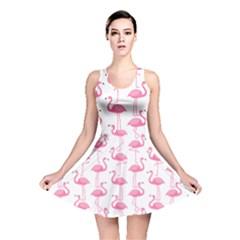 Pink Flamingos Pattern Reversible Skater Dress