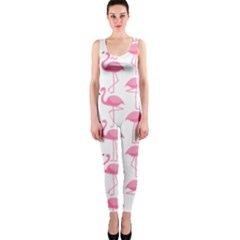 Pink Flamingos Pattern OnePiece Catsuit