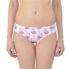Pink Flamingos Pattern Hipster Bikini Bottoms
