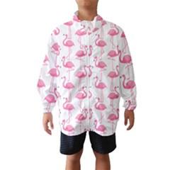 Pink Flamingos Pattern Wind Breaker (kids)