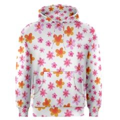 Watercolor Summer Flowers Pattern Men s Pullover Hoodie