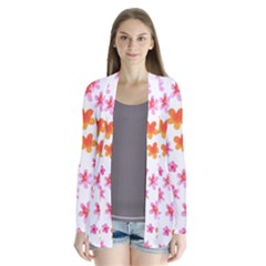 Watercolor Summer Flowers Pattern Cardigans