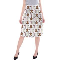 Christmas Trio Pattern Midi Beach Skirt
