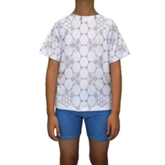 Density Multi Dimensional Gravity Analogy Fractal Circles Kids  Short Sleeve Swimwear
