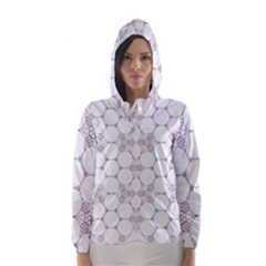 Density Multi Dimensional Gravity Analogy Fractal Circles Hooded Wind Breaker (women)