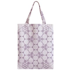 Density Multi Dimensional Gravity Analogy Fractal Circles Zipper Classic Tote Bag