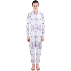 Density Multi Dimensional Gravity Analogy Fractal Circles Hooded Jumpsuit (ladies)