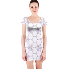 Density Multi Dimensional Gravity Analogy Fractal Circles Short Sleeve Bodycon Dress