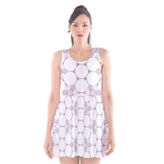 Density Multi Dimensional Gravity Analogy Fractal Circles Scoop Neck Skater Dress