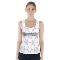 Density Multi Dimensional Gravity Analogy Fractal Circles Racer Back Sports Top