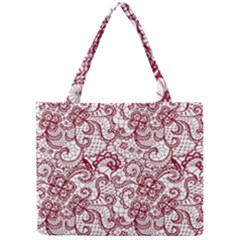 Transparent Lace With Flowers Decoration Mini Tote Bag