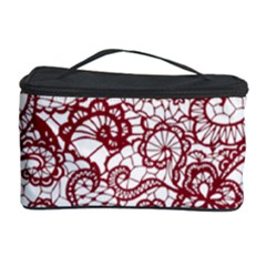 Transparent Lace With Flowers Decoration Cosmetic Storage Case