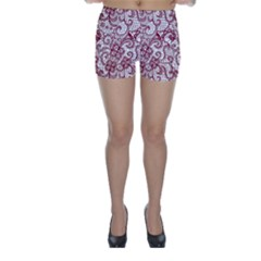 Transparent Lace With Flowers Decoration Skinny Shorts