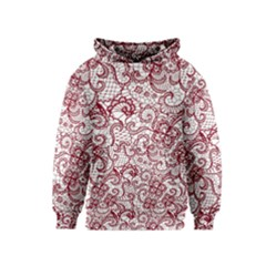 Transparent Lace With Flowers Decoration Kids  Pullover Hoodie