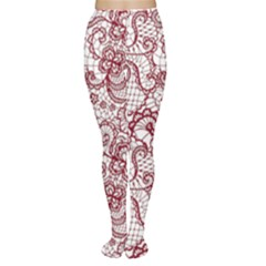 Transparent Lace With Flowers Decoration Women s Tights
