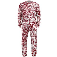 Transparent Lace With Flowers Decoration Onepiece Jumpsuit (men)