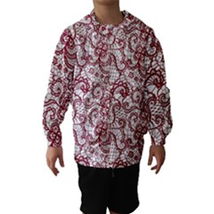 Transparent Lace With Flowers Decoration Hooded Wind Breaker (Kids)