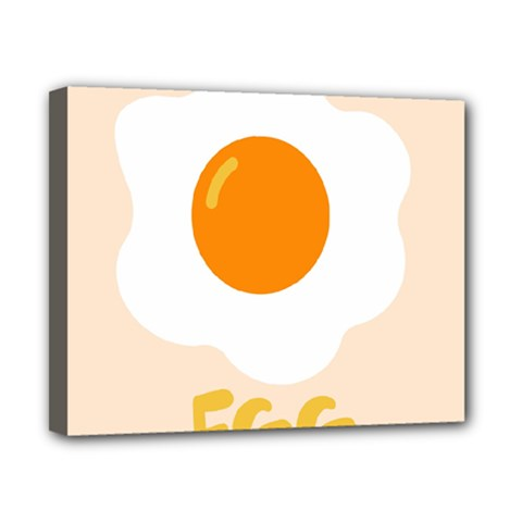 Egg Eating Chicken Omelette Food Canvas 10  X 8