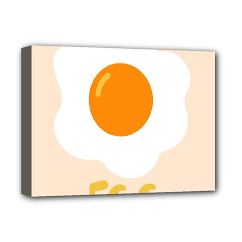 Egg Eating Chicken Omelette Food Deluxe Canvas 16  x 12