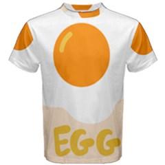 Egg Eating Chicken Omelette Food Men s Cotton Tee