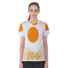 Egg Eating Chicken Omelette Food Women s Cotton Tee