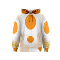Egg Eating Chicken Omelette Food Kids  Zipper Hoodie