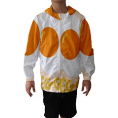Egg Eating Chicken Omelette Food Hooded Wind Breaker (Kids)