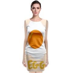 Egg Eating Chicken Omelette Food Classic Sleeveless Midi Dress