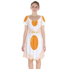 Egg Eating Chicken Omelette Food Short Sleeve Bardot Dress