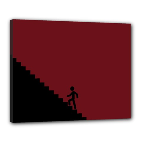 Walking Stairs Steps Person Step Canvas 20  x 16