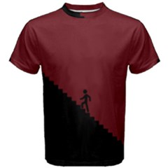 Walking Stairs Steps Person Step Men s Cotton Tee