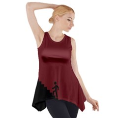 Walking Stairs Steps Person Step Side Drop Tank Tunic