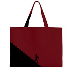 Walking Stairs Steps Person Step Large Tote Bag