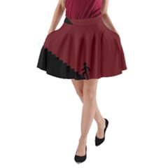 Walking Stairs Steps Person Step A-Line Pocket Skirt