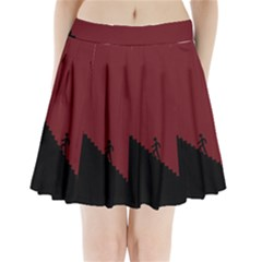 Walking Stairs Steps Person Step Pleated Mini Skirt